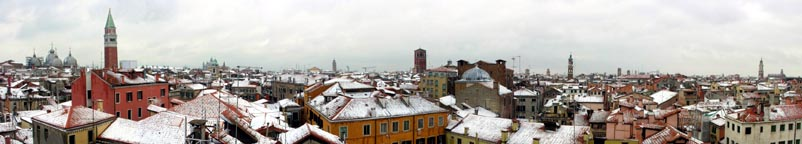 Venice weather, snow